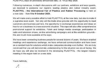 تغییر زمان نمایشگاه پلاست پل ۲۰۲۰ به دلیل کرونا